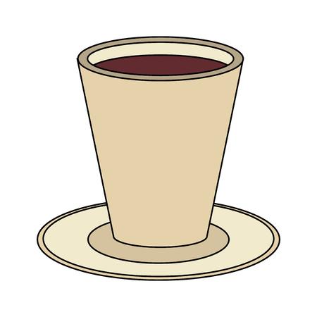 coffee beverage icon image vector illustration design