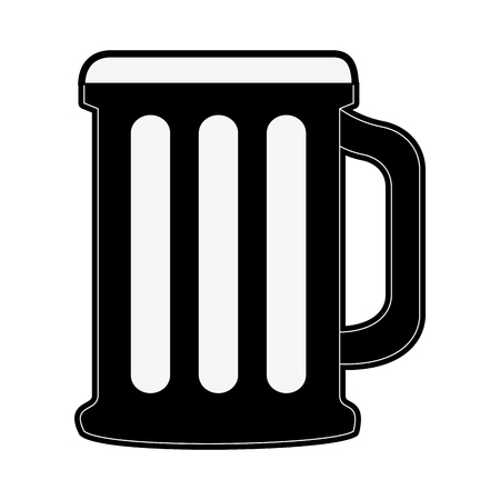glass of beer icon image vector illustration design  イラスト・ベクター素材