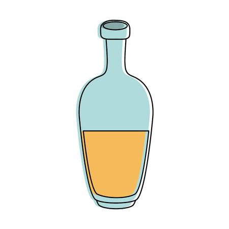 bottle with liquid icon image vector illustration design