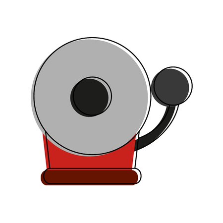 fire alarm icon image vector illustration design  Illustration