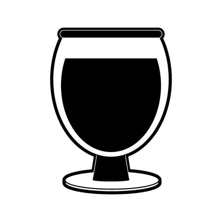 wine glass icon image vector illustration design  black and white Stock Vector - 96046575