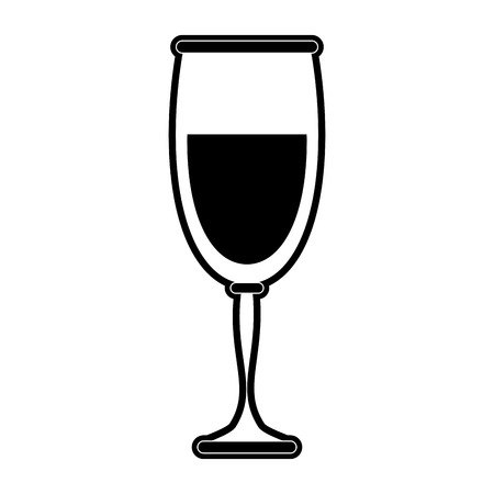 wine glass icon image vector illustration design  black and white Illustration