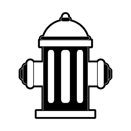 Water hydrant icon image vector illustration design  black and white