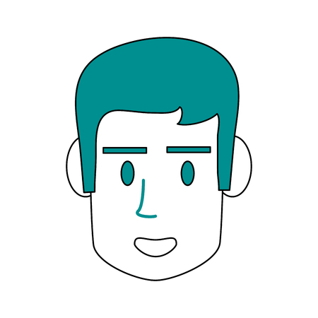 Guy face cartoon icon vector illustration graphic design