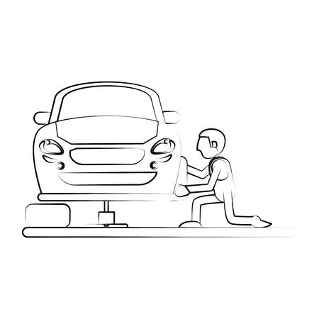 Mechanic worker cartoon icon vector illustration graphic design
