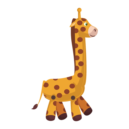 Stuffed giraffe cartoon vector illustration graphic design Illustration