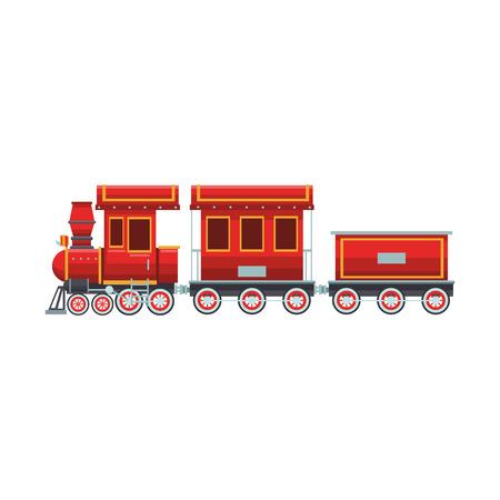Train toy cartoon vector illustration graphic design Illustration