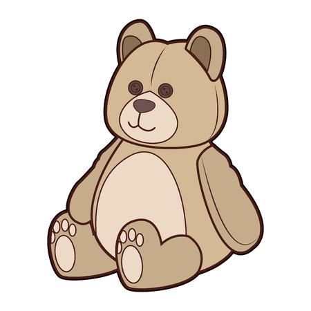 Teddy bear cartoon vector illustration graphic design