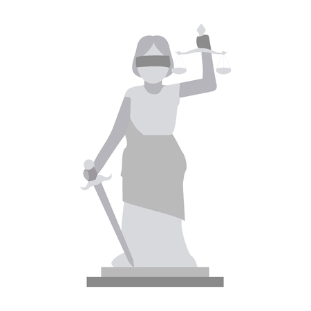 Woman justice balance symbol vector illustration graphic design