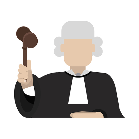 Judge avatar symbol vector illustration graphic design