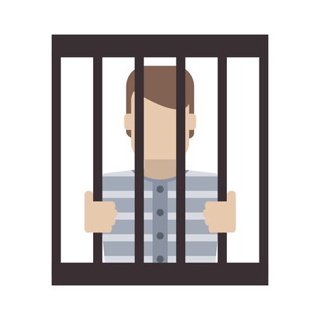 Male in jail symbol vector illustration graphic design