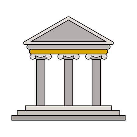 Greek building symbol vector illustration graphic design
