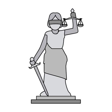 Woman justice balance symbol vector illustration graphic design