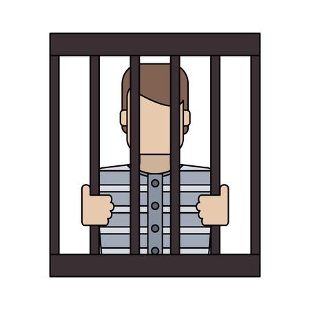 Male in jail symbol vector illustration graphic design