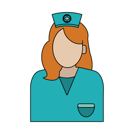 Woman doctor or nurse avatar vector illustration graphic design Illustration
