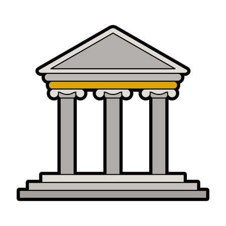 Greek building symbol vector illustration graphic design.