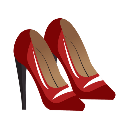 Womens high heels vector illustration graphic design Illustration