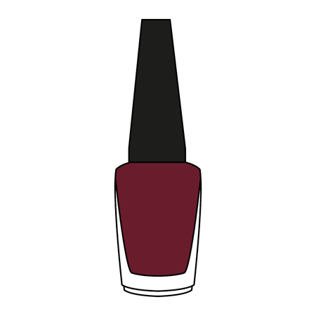 Nail polish bottle vector illustration graphic design. Ilustrace