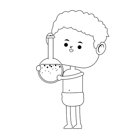 Baby with flask vector illustration graphic design.