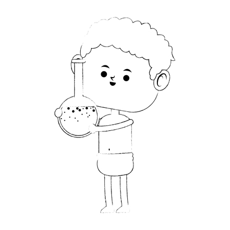 Baby with flask vector illustration graphic design  イラスト・ベクター素材