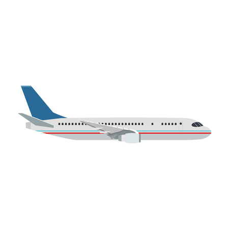 Jet airplane symbol vector illustration graphic design