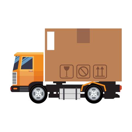 Cargo truck vehicle vector illustration graphic design