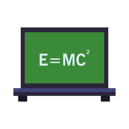 Physic formula on blackboard vector illustration graphic design