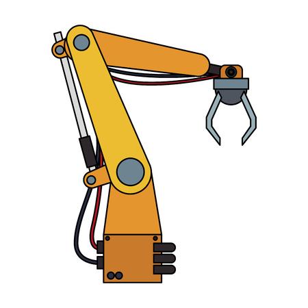 Factory robot arm vector illustration graphic design