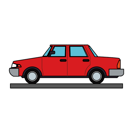 Sedan vehicle cartoon vector illustration graphic design.