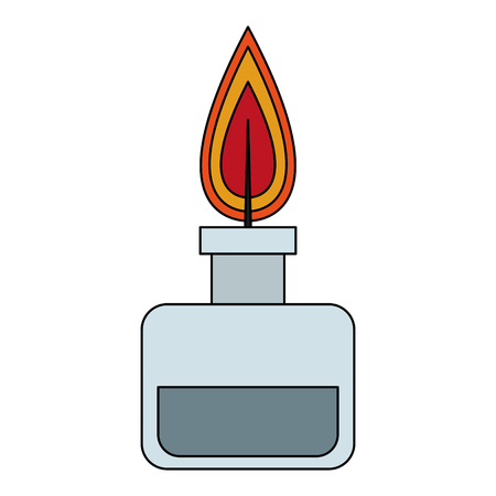 Bunsen lighter isolated vector illustration graphic design