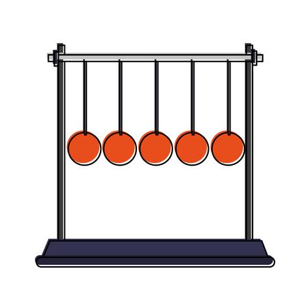 Newton cradle pendulum icon vector illustration graphic design