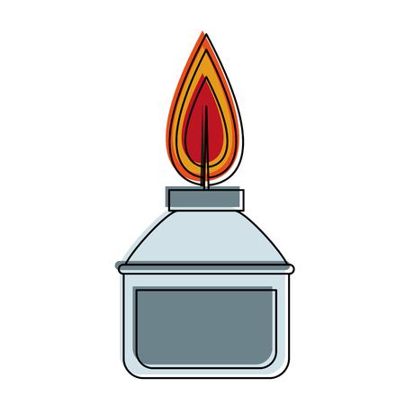 Bunsen lighter isolated icon vector illustration graphic design