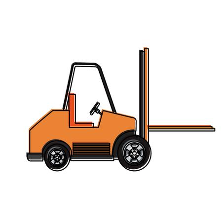 Forklift cargo vehicle icon vector illustration graphic design.