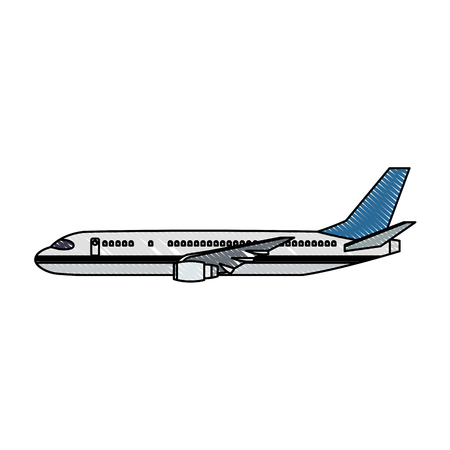 Jet airplane symbol icon vector illustration graphic design Vectores