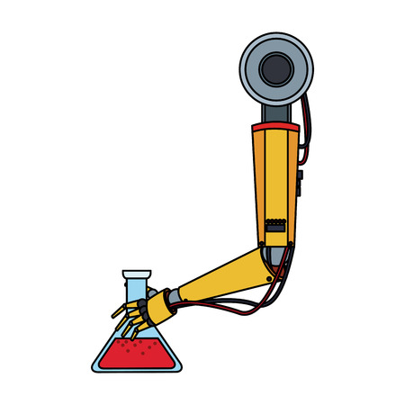 Factory robot arm icon vector illustration graphic design