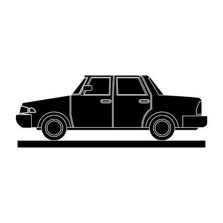 Car in the city icon vector illustration graphic design 矢量图像