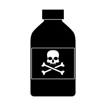 Poison bottle isolated icon vector illustration graphic design