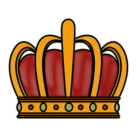 King crown symbol vector illustration graphic design Illustration