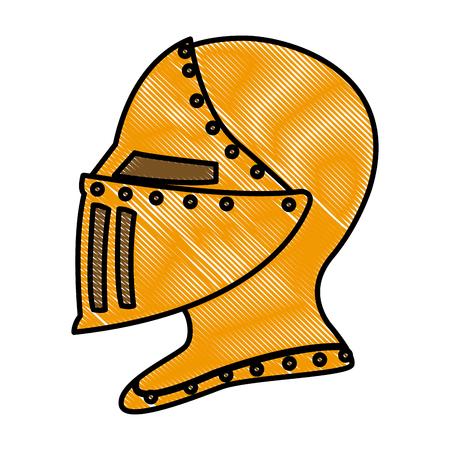 Medieval warrior helmet vector illustration graphic design Illusztráció