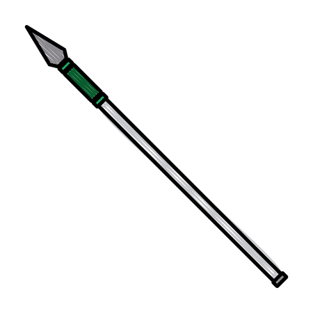 Spear medieval weapon vector illustration graphic design Vectores