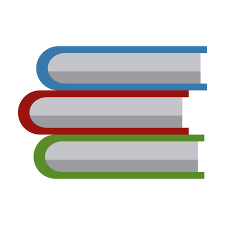 Books piled up icon vector illustration graphic design