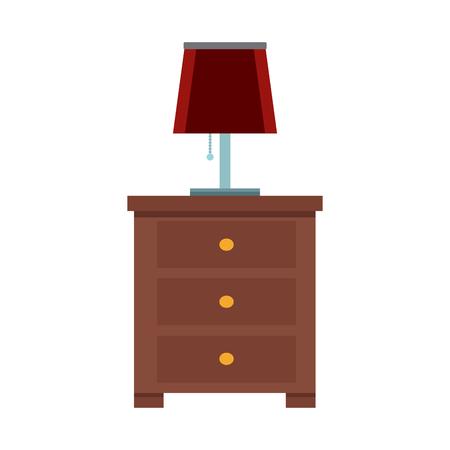 Night light lamp icon vector illustration graphic design