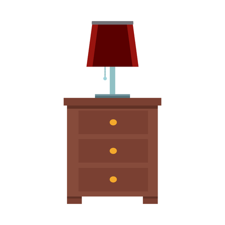 Night light lamp icon vector illustration graphic design