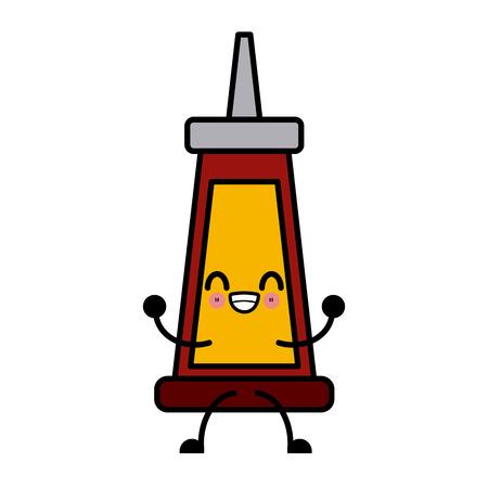 super glue bottle cute kawaii cartoon icon vector illustration
