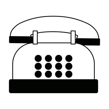 Telephone call service center communication support vector illustration