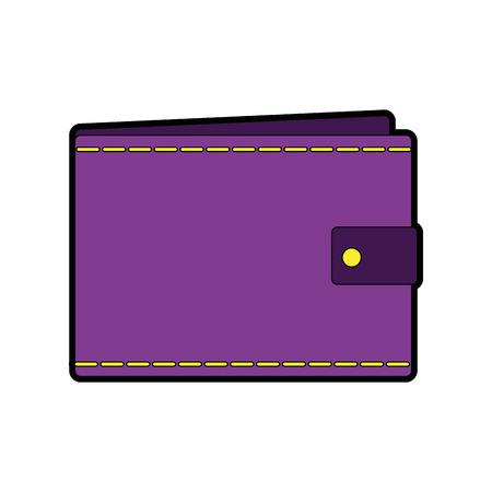 Een portemonnee leeg geld zakelijke zak pictogram vectorillustratie