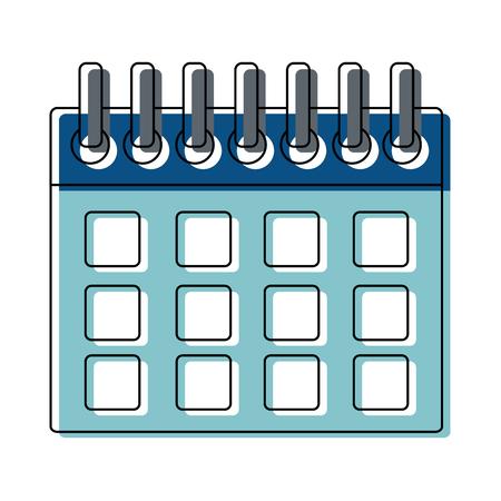 calendar planner template for week starts vector illustration