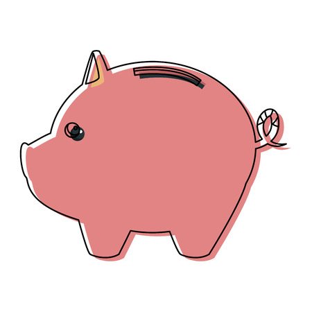 Piggy bank saving or accumulation of money investment business vector illustration.