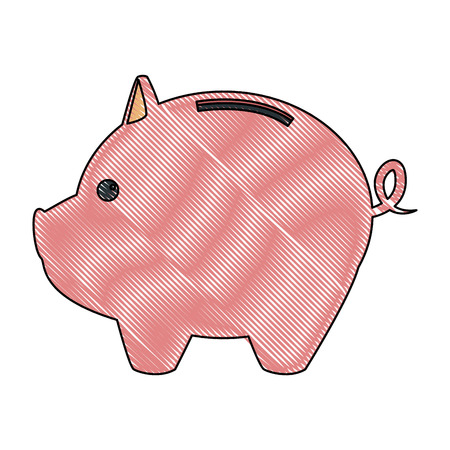 A piggy bank saving or accumulation of money investment business vector illustration
