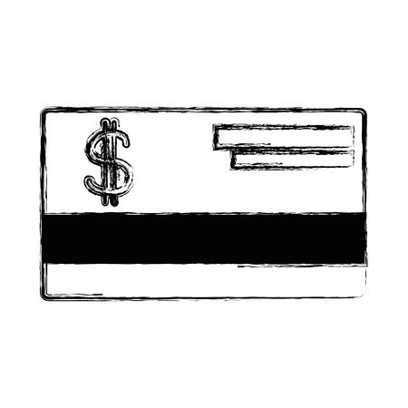 bank credit card debit money plastic vector illustration